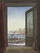 Carl Gustav Carus Balcony overlooking the Bay of Naples oil painting artist