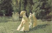 Cesare Biseo The Favorites from the Harem in the Park oil painting picture wholesale