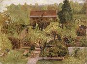 Christian Friedrich Gille Garden oil painting picture wholesale