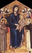 Cimabue Madonna and Child Enthroned with Two Angels and Ss. Francis and Dominic oil painting picture wholesale