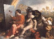 Dosso Dossi Fupite Mercury and Virtus or Virgo oil painting picture wholesale