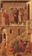 Duccio di Buoninsegna Peter-s First Denial of Christ Before the High Priest Annas oil painting picture wholesale