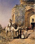 Edwin Lord Weeks Old Blue-Tiled Mosque,Outside Delhi,India oil painting picture wholesale