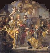 Francesco Solimena Charles VI and Count Gundaker Althann oil painting picture wholesale