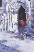 Francis Campbell Boileau Cadell Interior of Iona Abbey oil painting picture wholesale