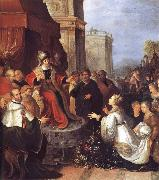 Frans Francken II Solomon and the Queen of Sheba oil painting artist