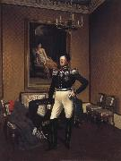 Franz Kruger Prince August von Preuben of Prussia oil painting