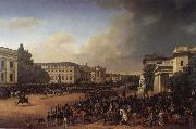 Franz Kruger Parade on Opernplatz in 1822 oil painting