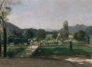 Friedrich August von Kaulabch Garden in Ohlstadt oil painting artist