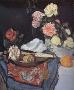 George Leslie Hunter Fruit and Flowers on a Draped Table oil painting picture wholesale