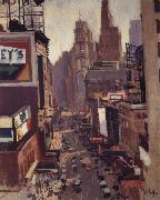 George Oberteuffer Times Square oil painting