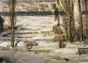 George Wesley Bellows A Morning Snow oil