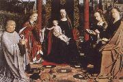 Gerard David The Virgin and Child with Saints and Donor oil painting picture wholesale