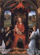 Hans Memling Madonna Enthroned with Child and Two Angels oil painting picture wholesale