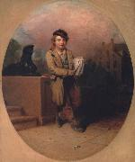Henry Inman News Boy oil painting