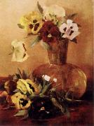 Hirst, Claude Raguet Pansies in a Glass Vase oil painting picture wholesale