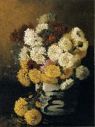 Hirst, Claude Raguet Chrysanthemums in a Canton Vase oil painting picture wholesale