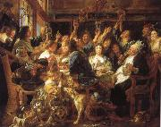 Jacob Jordaens Feast of the bean King oil painting picture wholesale