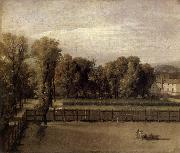 Jacques-Louis David View of the Garden of the Palais du Luxembourg oil painting picture wholesale