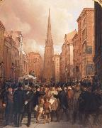 James H. Cafferty Wall Street oil painting picture wholesale