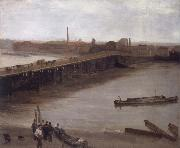 James Mcneill Whistler Brown and Silver Old Battersea Bridge oil painting picture wholesale