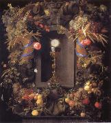Jan Davidsz. de Heem Chalice and the host,surounded by garlands of fruit oil painting picture wholesale