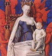 Jean Fouquet Virgin and Child Surrounded by angels oil painting picture wholesale