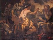 Johann Carl Loth Fupiter and Merury being entertained by philemon and Baucis oil painting picture wholesale