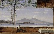 Johann Jakob Ulrich Seaside Terrace near Naples oil painting picture wholesale