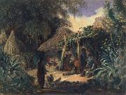 Johann Moritz Rugendas Indian Hut in the Village of Jalcomulco oil painting picture wholesale