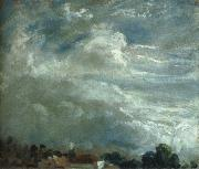 John Constable Cloud Study over a horizon of trees oil painting picture wholesale