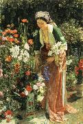 John Frederick Lewis In  the Bey-s Garden oil painting picture wholesale