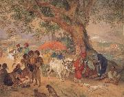 Karl Briullov A Break in the Journey,Near Constantinople oil painting picture wholesale