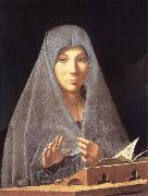 Antonello da Messina Antonello there measuring, madonna Annunziata oil