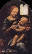 Leonardo  Da Vinci Madonna with a Flower oil painting picture wholesale