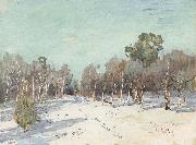 Levitan, Isaak Garden in the snow oil painting picture wholesale