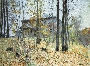 Levitan, Isaak Autumn good house oil painting picture wholesale