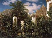 Lord Frederic Leighton Garden of an Inn,Capri oil painting picture wholesale