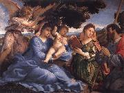 Lorenzo Lotto Virgin and Child with SS Catherine and Fames the Greater oil painting picture wholesale