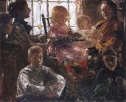 Lovis Corinth The Family of the Painter Fritz Rumpf oil painting picture wholesale