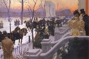 Lungren, Fernand Harvey A Winter Wedding oil painting picture wholesale