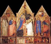 Matteo Di Pacino St.Bernard-s Vision of the Virgin with Saints oil painting artist