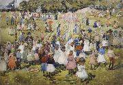 Maurice Prendergast May Day,Central Park oil painting picture wholesale