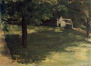Max Liebermann Garden Bench beneath the Chesnut Treses in t he Wannsee Garden oil painting picture wholesale