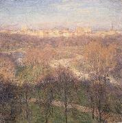 Metcalf, Willard Leroy Early Spring Afternoon,Central Park oil painting picture wholesale