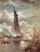 Moran, Edward Statue of Liberty Enlightening the World oil painting picture wholesale