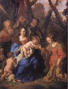 SANDRART, Joachim von The mystic marriage of St Catherine with SS Leopold and William oil painting picture wholesale