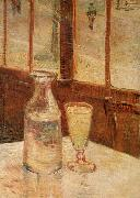 Vincent Van Gogh An absinthe glass and water decanter oil painting picture wholesale