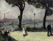 William J.Glackens East River Park oil painting reproduction