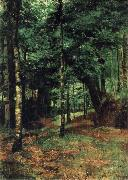 William Stott of Oldham Study of sun shining through trees-Concarneau oil painting picture wholesale